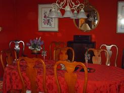 Dining Room of the Sandhill Crane Bed and Breakfast